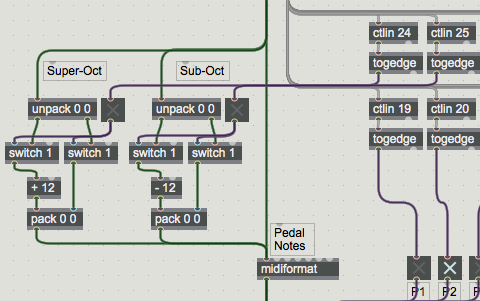 Super and Sub-Octave Couplers in Max